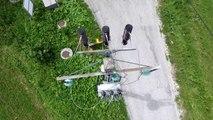Inspection ligne électrique en vue aérienne par drone
