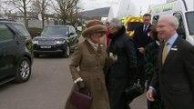 Duchess of Cornwall arrives at Cheltenham Festival