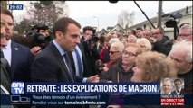 """Interpellé par des retraités sur la hausse de la CSG, Emmanuel Macron leur a demandé """"un peu de patience"""""""