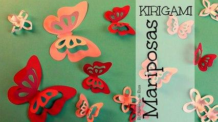 Decora tu Habitación con Mariposas de Papel (fácil y rápido), Mariposas Kirigami, Mariposas 3D
