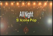 Icona Pop All Night Karaoke Version