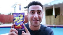 TAKIS & FLAMING HOT CHEETOS YOUTUBER CHALLENGE!!