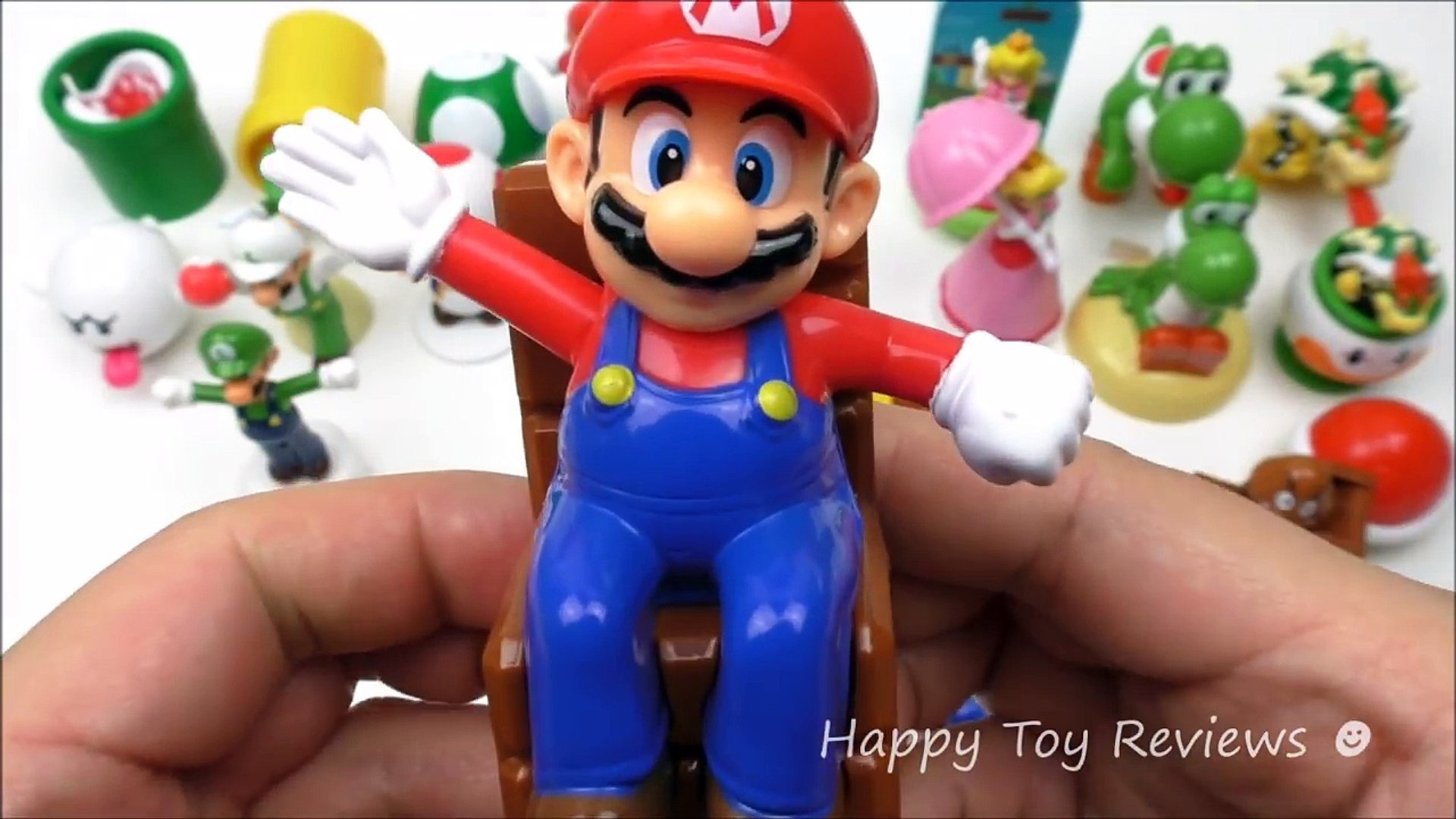 ALL 21 AMERICAN & EUROPEAN SUPER MARIO HAPPY MEAL TOYS McDONALDS KIDS MEAL 2017 2016 WORLD SET A