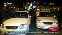 Taxi Vs Uber: Egyptian taxis protest against Uber