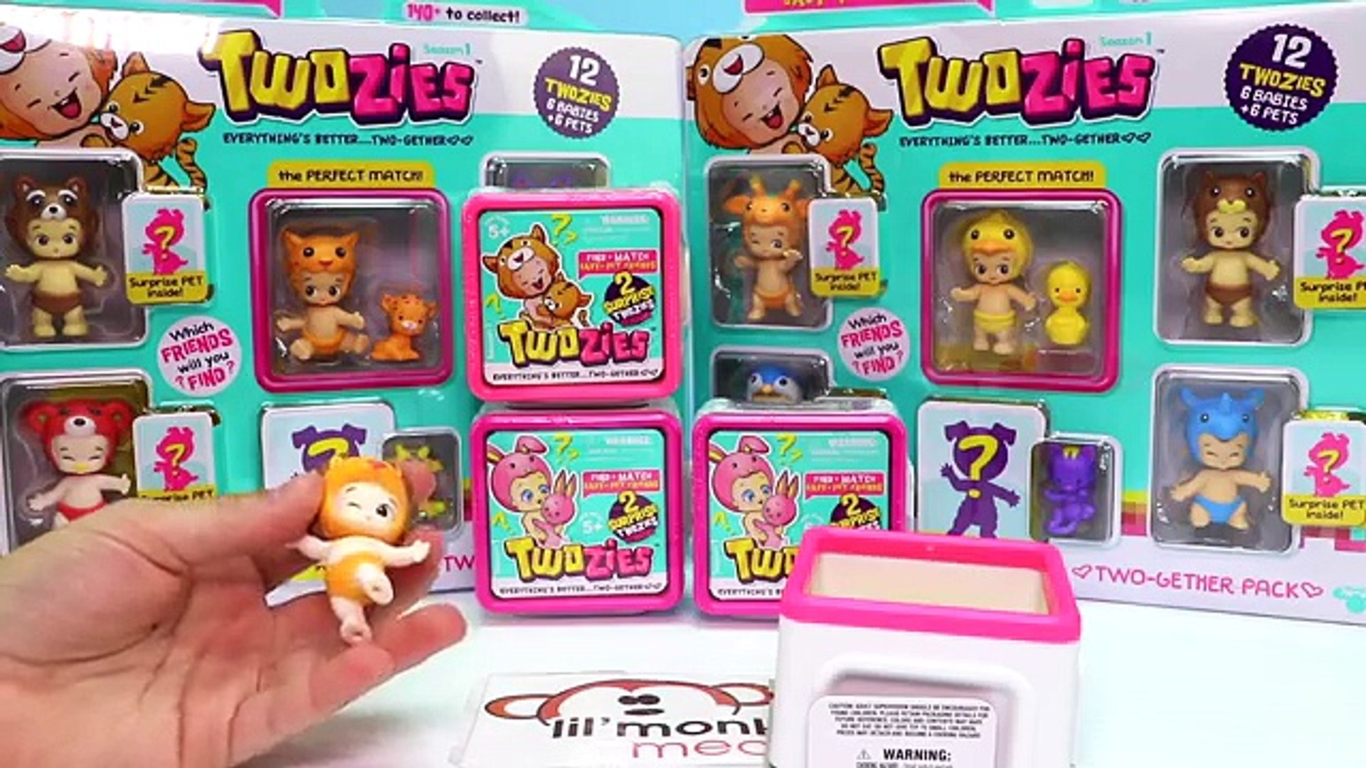 Twozies Baby Surprise Blind Bag Boxes Each with Animal Baby Pets! Neon Ultra Rares!