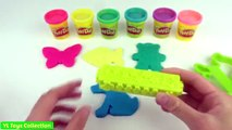 Play Doh Sparkle Learn Colours with Butterfly Fish Dog Teddy Bear Heart & Foot molds Fun for Kids