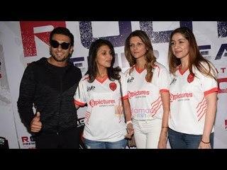 Ranveer Singh Attend Roots Premier League Football