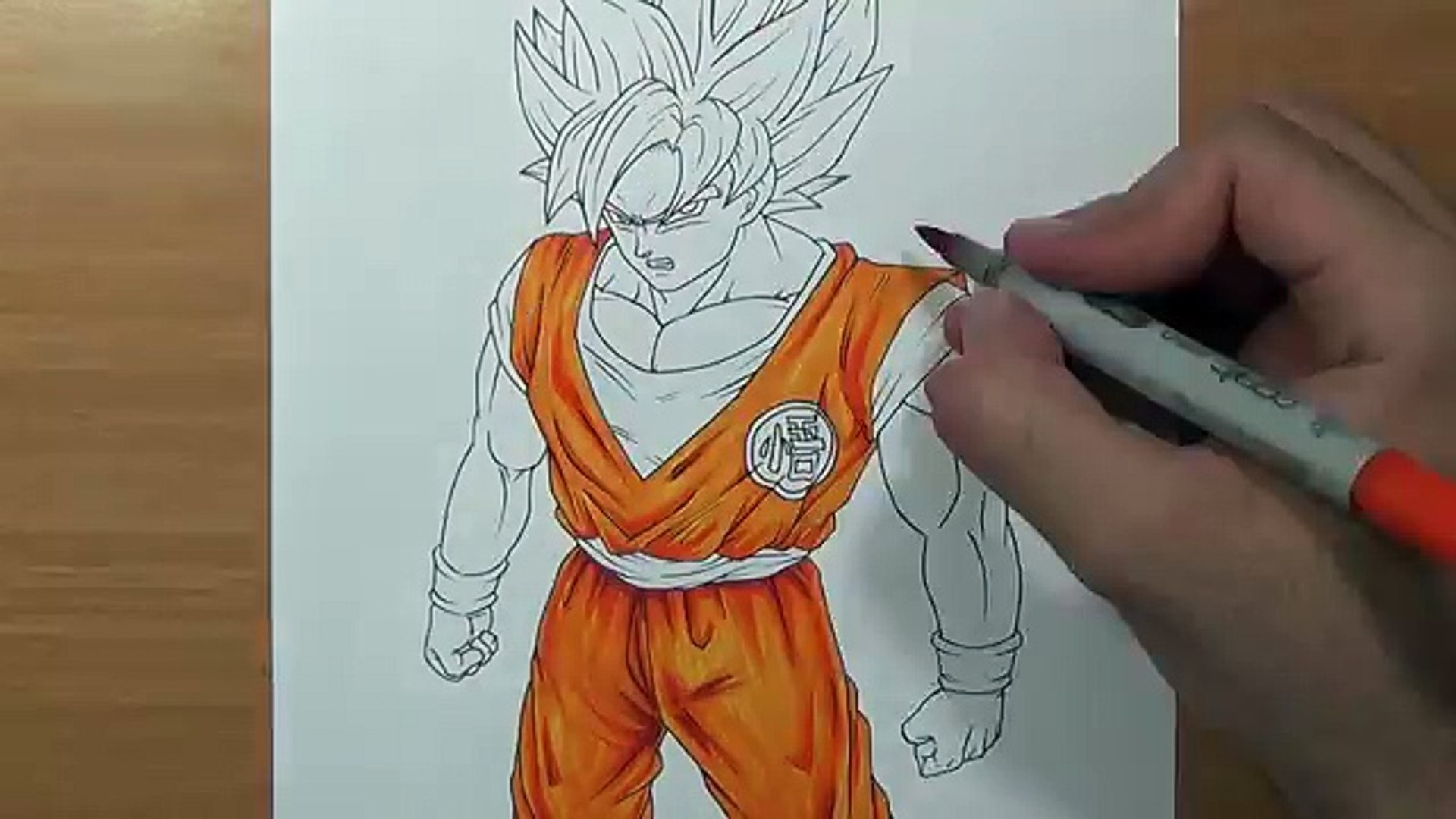Drawing Goku Super Saiyan Blue Full Body