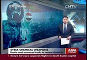 Russia sends armored trucks to remove chemicals from Syria