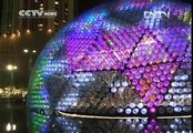 Lantern made from 7,000 recycled bottles for Mid-Autumn Fest