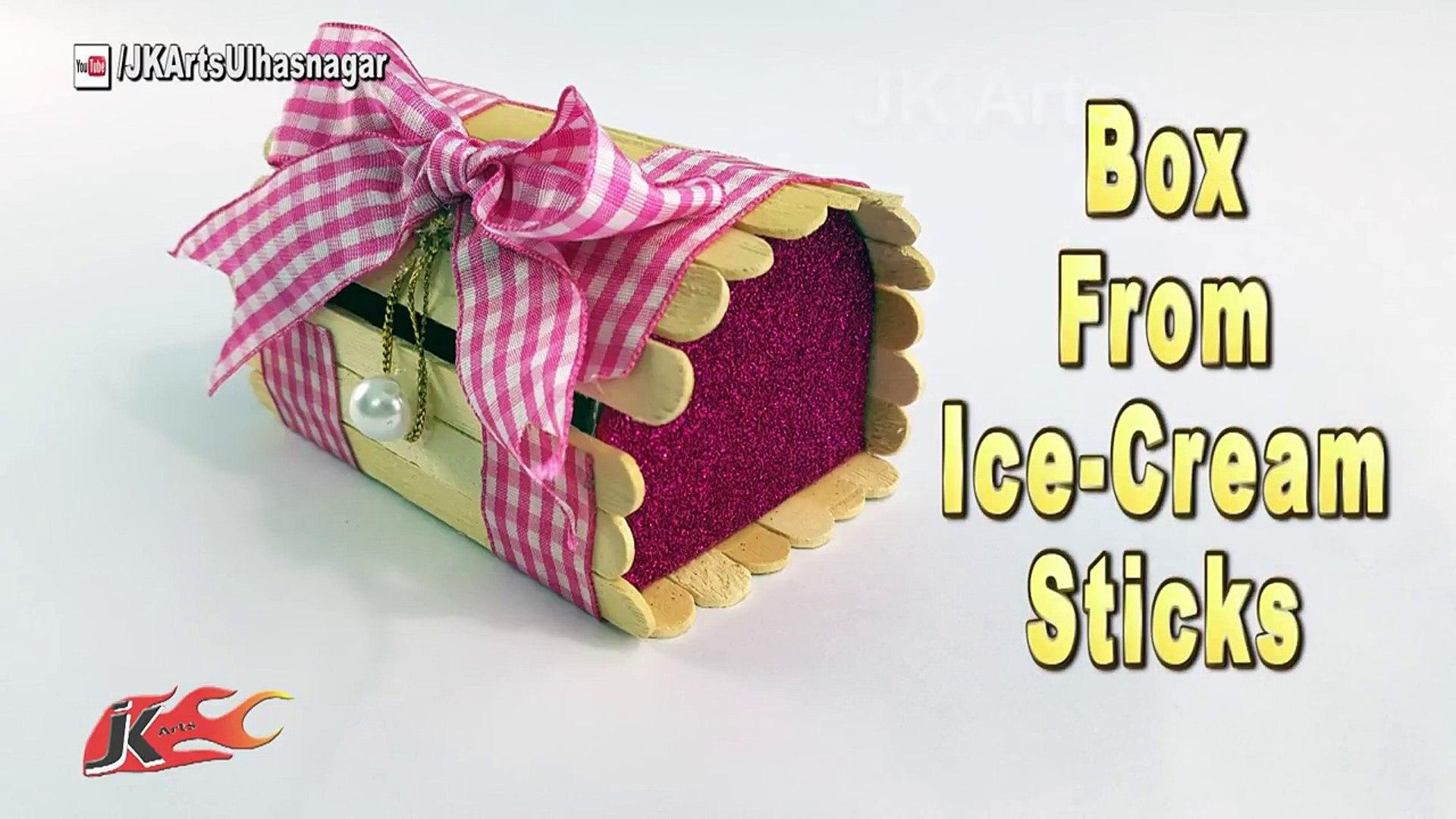 Diy How To Make Jewelry Box Using Popsicle Stick Jk Arts 1225