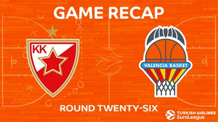 EuroLeague 2017-18 Highlights Regular Season Round 26 video: Zvezda 106-90 Valencia