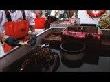 La puissance de ce homard géant qui pulvérise un crabe à coup de pinces
