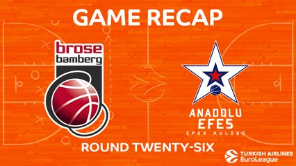 EuroLeague 2017-18 Highlights Regular Season Round 26 video: Bamberg 88-79 Efes