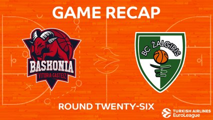 EuroLeague 2017-18 Highlights Regular Season Round 26 video: Baskonia 84-64 Zalgiris