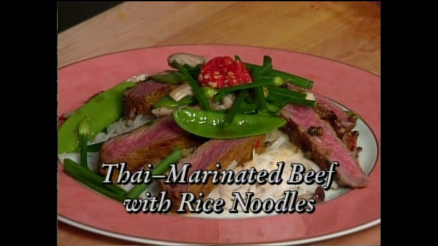 Thai-Marinated Beef with Rice Noodles and Crab Spring Rolls featuring Jean-Georges Vongerichten (In Julia's Kitchen with Master Chefs)