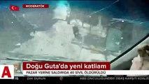 Rusya ve Suriye savaş uçakları Doğu Guta'y bombaladı: 50 ölü