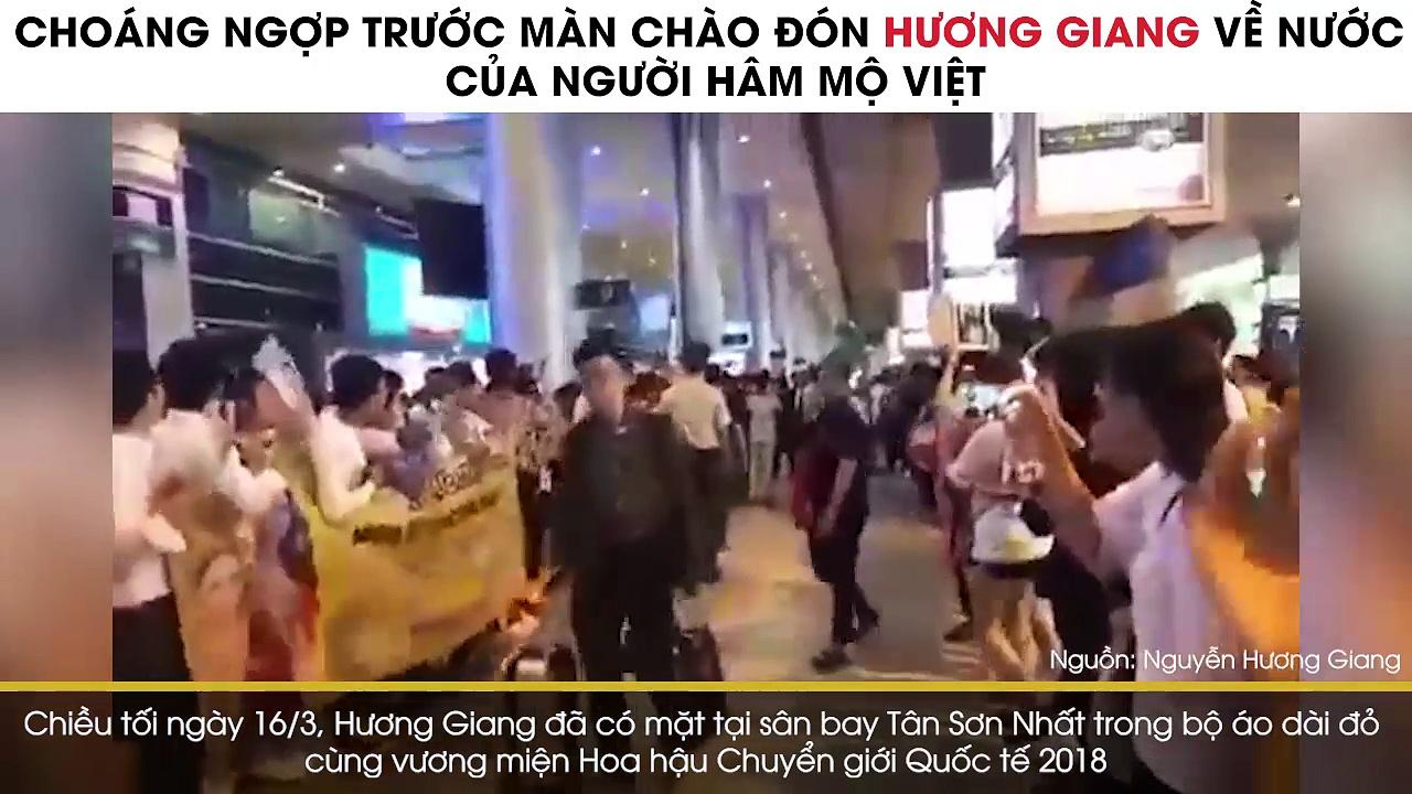 Hương Giang vỡ òa hạnh phúc trong vòng vây của người hâm mộ khi vừa về nước