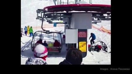 Vidéo TERRIFIANTE d'un télésiège qui s'emballe à Gudauri, en Géorgie.