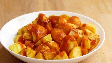 Patatas bravas. receta FACIL para auténticos VALIENTES