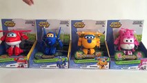 4 Super Wings Transforming Robots Airplanes Jett Jerome Donnie Dizzy 출동슈퍼윙스 - Unboxing Demo Review