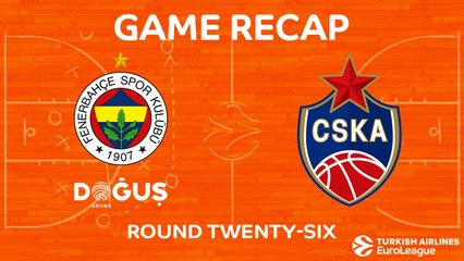 EuroLeague 2017-18 Highlights Regular Season Round 26 video: Fenerbahce 79-81 CSKA