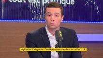 """Marine Le Pen soutient le candidat LR à #Mayotte :""""Ça peut décomplexer des électeurs LR qui partagent en grande majorité les valeurs défendues par le FN. Nous pouvons partager un certain nombre de valeurs communes"""", estime Jordan Bardella,directeur du FNJ"""
