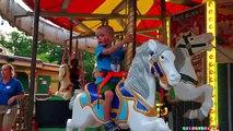 Парк Аттракционов в Америке – Американские Горки Детское Видео Макс Six Flags Roller Coasters