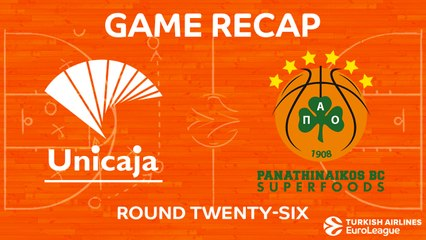 EuroLeague 2017-18 Highlights Regular Season Round 26 video: Unicaja 79-90 Panathinaikos