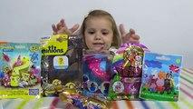 Ароматные капкейки кукла Свинка Пеппа Спанч Боб сюрпризы с игрушками распаковка surprise unboxing