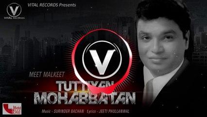 Tuttiyan Mohabbatan (Audio Song) || Meet Malkeet || Vital records || Latest Punjabi Songs 2018