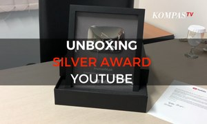 Unboxing Silver Award YouTube KompasTV