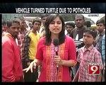 Bengaluru, potholes create havoc in KR Market- NEWS9