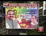 Hoardings, Hoardings Everywhere in Bengaluru - NEWS9