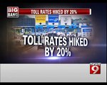 Toll Rates | Hiked by 20 percent in Bengaluru - NEWS9