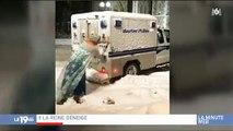 """Buzz : Un homme déguisé en """"Reine des neiges"""" vient en aide à la police bloqué dans la neige"""