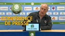 Conférence de presse Clermont Foot - AS Nancy Lorraine (2-0) : Pascal GASTIEN (CF63) - Patrick GABRIEL (ASNL) - 2017/2018