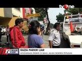 Razia Parkir Liar, Sejumlah Kendaraan Diderek Petugas