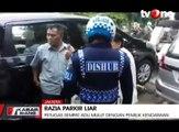 Razia Parkir Liar, Pemilik Kendaraan dan Petugas Adu Mulut