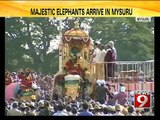 Mysuru, Majestic elephants arrive in Bengaluru - NEWS9