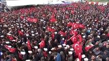 Cumhurbaşkanı Erdoğan: 'Buradan asla böldürmeyeceğiz, kaptırmayacağız. Yok o PKK'mış, yok paralel devletmiş, yok şuymuş yok buymuş. Onlara, inlerine gireceğiz dedik' - ÇANAKKALE
