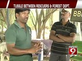 Bengaluru, tussle between rescuers and forest dept- NEWS9