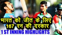 India vs Bangladesh Nidahas Final 1st inning highlight: Bangladesh sets 167 run target | वनइंडिया