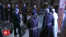 During his Saturday visit to San Giovanni Rotondo in southern Italy, Pope Francis prayed at the tomb of Padre Pio, whose remains and relics are housed in the Ch