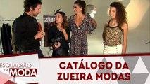 Fotografando o catálogo da Zueira Modas