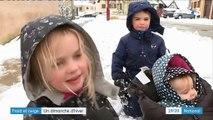 Froid et neige : un dimanche hivernal