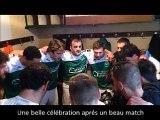 Une belle célébration aprés une belle victoire et un beau match contre Voutré