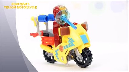 Worst Colorful Super Hero Motorcycle Marvel & DC Minifigures w/ Doomsday Unofficial LEGO Set
