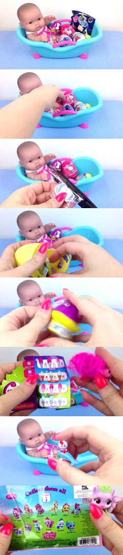 Видео с Куклой Пупсик с сюрпризами игрушки для девочек Baby Doll Bathtime surprises