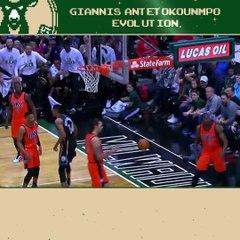 L'évolution de Giannis Antetokounmpo en NBA